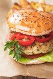Strikt vegetarianhamburgare Arkivbilder