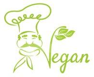 Strikt vegetariankock Arkivfoton