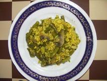 Strikt vegetarianmål på plattan Royaltyfria Bilder