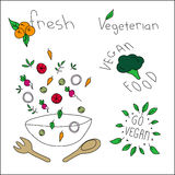 Strikt vegetarianmat stock illustrationer