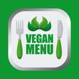 Strikt vegetarianmatdesign Royaltyfri Bild