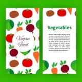 Strikt vegetarianmatreklamblad Royaltyfria Bilder