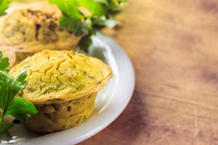 Strikt vegetarianmuffin Royaltyfria Bilder