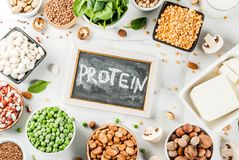 Strikt vegetarianproteinkällor royaltyfri fotografi
