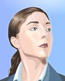 Strikte vrouw royalty-vrije illustratie