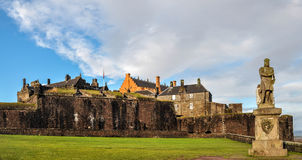 Striling Castle Scotland. Stirling castle Scotland , one of the most famous castles in the world. the Robert the bruce monument at the front Stock Photos