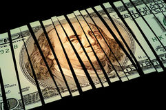 strimlad dollar Royaltyfri Fotografi
