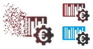 Strimlad för euroBarcode för PIXEL rastrerad symbol för aktivering vektor illustrationer