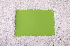 Strimlad pappers- ram Royaltyfria Foton