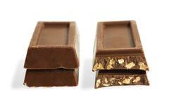 strimlade chokladmuttrar Royaltyfria Foton