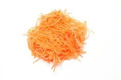 strimlade morötter Arkivfoton