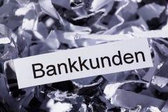 Strimlade pappers- bankkunder Royaltyfria Bilder