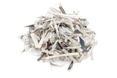 strimlade tidningar stapel bakgrund isolerad white Royaltyfri Bild