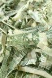 Strimlade US-dollar Fotografering för Bildbyråer