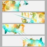 Strimmor och explosionbaneruppsättning royaltyfri illustrationer