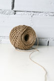 String. A ball of crude string Stock Image