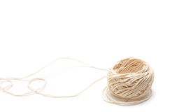 String. A roll of string isolated on white background stock image