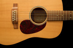 12 string Acoustic guitar Royalty Free Stock Photos