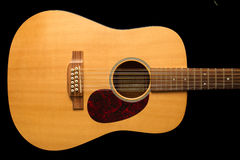 12 string Acoustic guitar Royalty Free Stock Image