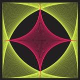String art colorful illustrator blackground Stock Image