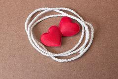 String Attached With Red Heart Shape Royalty Free Stock Image