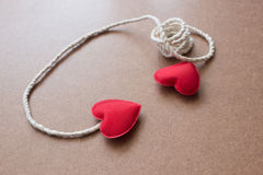 String Attached With Red Heart Shape Royalty Free Stock Images