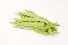 String beans. On the white background Royalty Free Stock Image