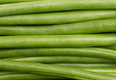 String beans. Long green string beans background Royalty Free Stock Images