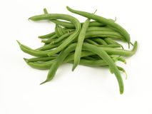 String beans. Isolated on white Stock Photos