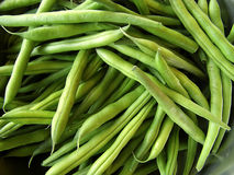 String beans close-up. Raw french beans Royalty Free Stock Photo