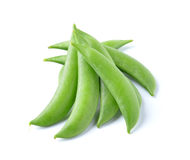 String beans isolated on white background. String beans isolated on a white background stock photos