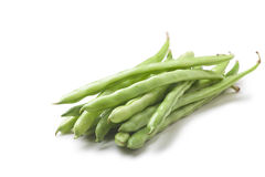 String beans. On white background Stock Photography