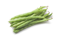 String beans. On white background Stock Photo