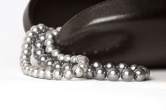 String of Black Pearls Stock Images