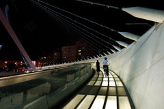 String bridge of the architect  Calatrava in Jerusalem Stock Photo