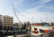String Bridge at the entrance to Jerusalem Royalty Free Stock Photos