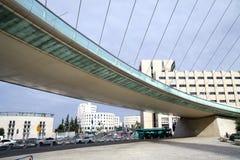 String Bridge at the entrance to Jerusalem Royalty Free Stock Photos