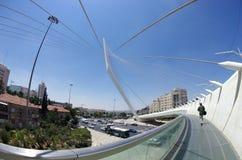 String Bridge at the entrance to Jerusalem Stock Photo