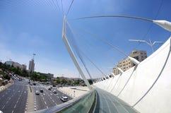 String Bridge at the entrance to Jerusalem Royalty Free Stock Photo