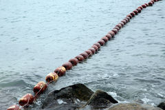 String of buoys Royalty Free Stock Image