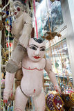 String Burmese puppet, Myanmar tradition dolls in Myanmar souvenir shop. Stock Image