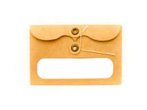 String and button envelope Stock Images