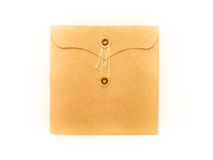 String and button envelope Stock Photo