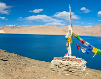 String of colorful prayer flag Royalty Free Stock Images