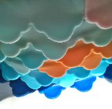 String of colors. Colorful image cake Royalty Free Stock Images