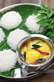 String hoppers with egg curry, south indian cuisine Royalty Free Stock Photography
