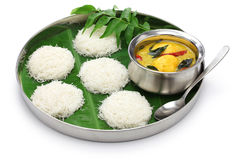 String hoppers with egg curry, south indian cuisine Royalty Free Stock Image