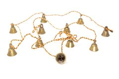 String of 11 Indian bells royalty free stock photography