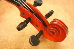 String instrument. Top of the string instrument stock image
