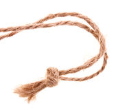 String with a knot. String with a small knot Stock Photography